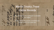 Martin County Records