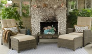 Christmas Sale - All Weather Indoor and Outdoor Recliner Wicker Sofa