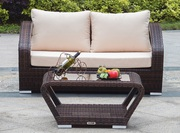 Buy All Weather Wicker Loveseat with Coffee table