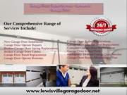 Garage Door Opener Installation Service $26.95 Lewisville,  Dallas