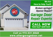 Professional  New Garage Door Installation and Spring Repair in Allen