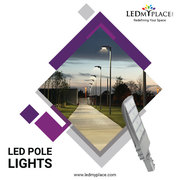 Buy Now, One of The high-quality Pole lights in silver colour from LEDM