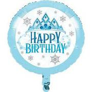 Creative Party PC344421 Snowflakes Happy Birthday Foil Balloon-1 Pc